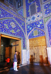 Night Time (ACC88) Tags: blue boy man color men colors kid asia child iran muslim islam religion persia mosque east tiles middle ایران esfahan sheikh isfahan lotfollah 伊朗
