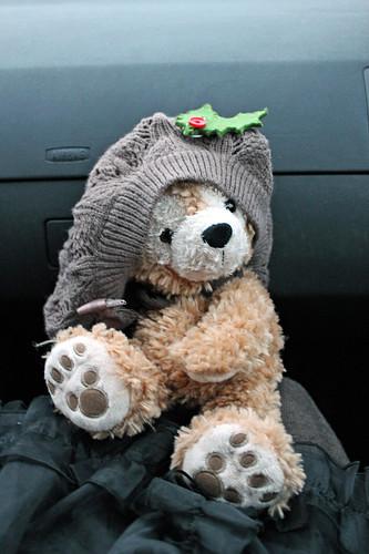 Duffy in the car