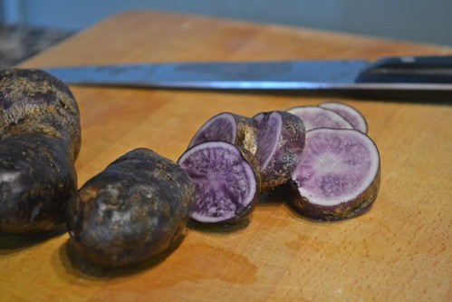 pretty purple potatoes.