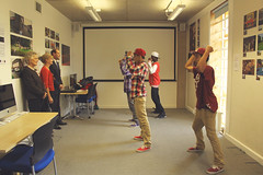 The Phresh Boiiz perform their dance for HRH (Knowle West Media Centre) Tags: west bristol media centre royal prince visit edward earl wessex knowle