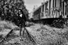 //..//..// (Peny_Giannakou) Tags: she light blackandwhite woman white black blanco mystery lady contrast train dark photography mono photo blackwhite noir femme negro elle photograph bianco blanc nero oldwagon pennygiannakou