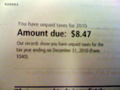The IRS does not play.