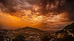 Apocalypse or is it a Fiery sunset in the Himalayas (Anoop Negi) Tags: sunset red portrait india photography for photo bravo media image photos delhi indian hill bangalore creative images best hills po mumbai anoop himachal himalayas deo pradesh negi ghat aravali solan photosof ezee123 imagesof jjournalism