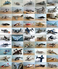 Aircraft collection (Mad physicist) Tags: lego aircraft military collection helicopters