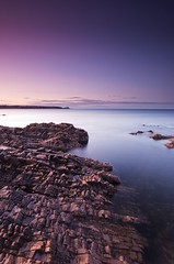 cullen bay sunset 6 (chrisj_abz) Tags: sunset sea landscape rocks moray gloaming cullen portknockie