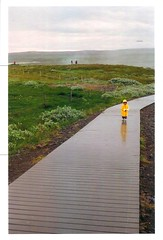 Alone (SaveyB) Tags: color film yellow canon iceland alone child ae1 raincoat