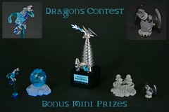 Dragons Contest (Bonus Mini Prizes) (Siercon and Coral) Tags: ice dragon lego steel contest chrome trophy lightning prizes trophies steampunk moc