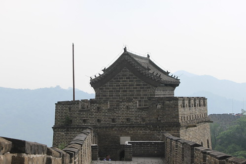 Closer look at another watchtower at Mutianyu Great Wall Beijing China
