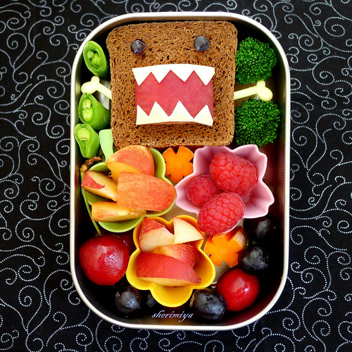 Domokun Sandwich Bento by sherimiya ♥