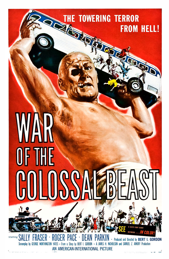 Albert Kallis - War of the Colossal Beast (American International, 1958) One Sheet