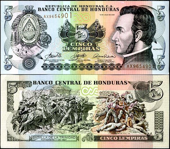 5 Lempiras Honduras 2006, Pick 91