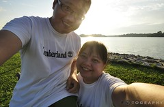 this lovely sunday afternoon (f r e d 001) Tags: sunset nikon angle wide sp tamron week32 selfie d90 sooc upperseletarreservoir 1024mm themeagainstthelightflare