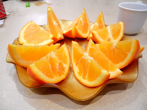 Fruit Plate of Oranges