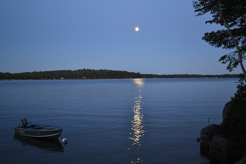 Moonlight on Beech Hill Pond Maine