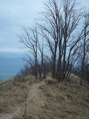 Kemil Beach Trail - Summit (Zoesdare) Tags: statepark sky nature clouds sand dunes indiana lakemichigan kemilbeach dunesnationallakeshore