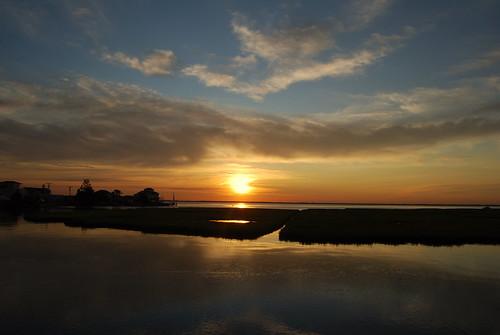 Blue Sky with Rising Sun