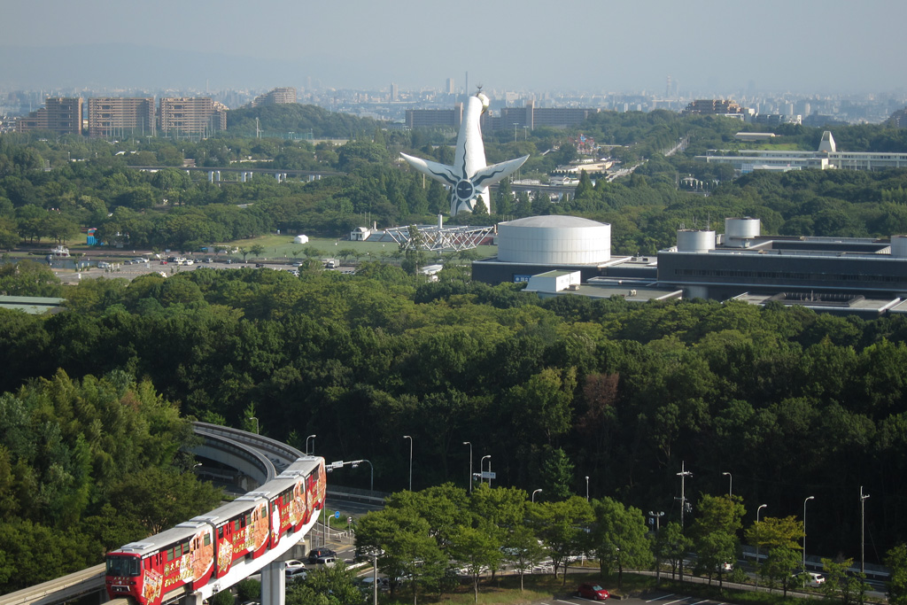 Tower of the Sun and Osaka Monorail