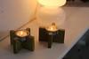 wood candlesticks (ikea vingtage) (Lisa Fenberg) Tags: ikea design bougies suede marimekko laine annukka finlande terracottatiles simplicité scandinave designscandinave créativité lampedetable johannagullichsen peauxdemouton carrelageterrescuites