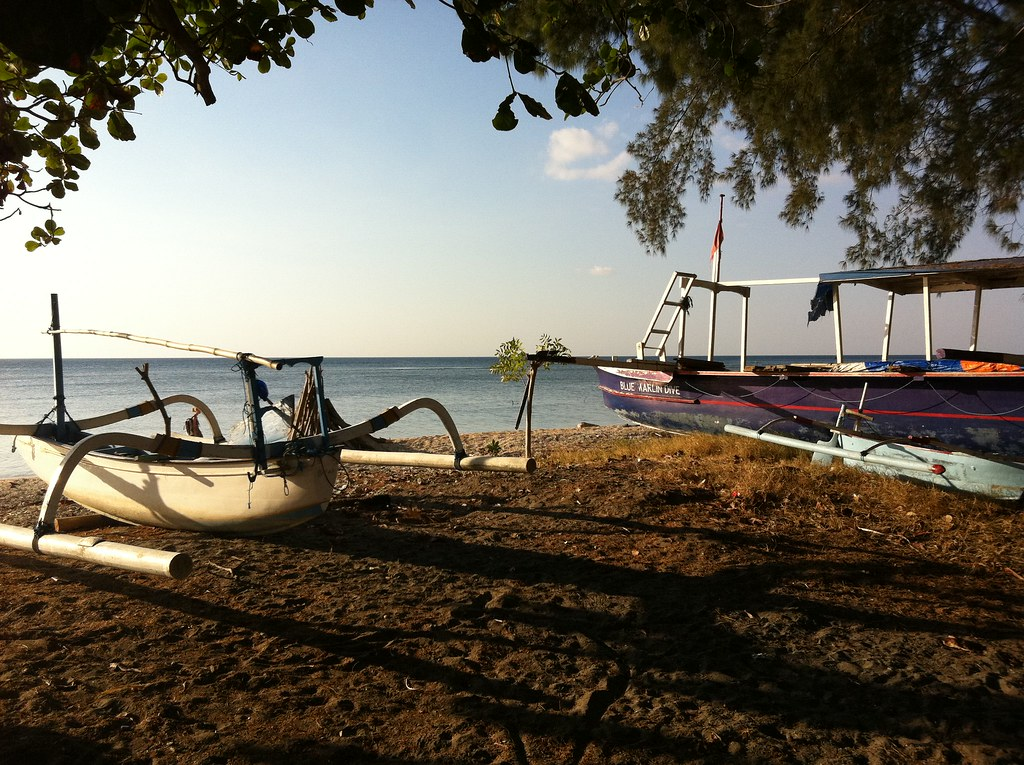 On the beach, Gili Air, Lombok, Indonesia