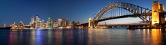 Sydney Harbour Panorama (shashin62) Tags: city bridge game night opera cityscape nightshot harbour group sydney australia nsw operahouse challenge sydneyharbour sydneyoperahouse sydneyharbourbridge the thechallengegroupgame mygearandme