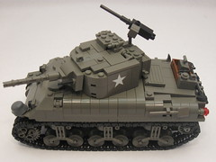 "M4A1 Sherman- Tank Overhaul- side profile (""Rumrunner"") Tags: world 2 army war tank lego wwii ii american ww2 ww division armored 3rd sherman worldwar2 allies m4a1 brickarms brickmania"