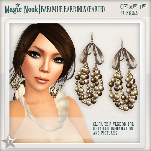 [MAGIC NOOK] Baroque Earrings (Earth)