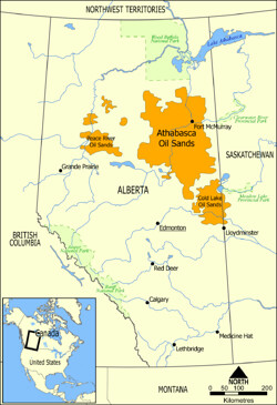 Athabasca Oil Sands Map