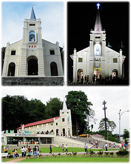 Collage of Shrine of St. Anne, Bukit Mertajam (the old iconic church)