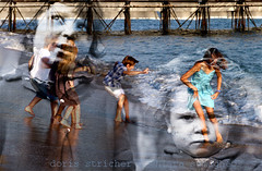 childhood then and now - artiShock  parallel worlds (doris stricher) Tags: contemporary collaboration artforum neorealism chidhood parallelworlds artishock collabart chiarasamugheo dorisstricher startcafe