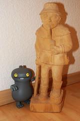 Uglyworld #1241 - My Newer Bestesters Friendly (www.bazpics.com) Tags: wood man hat statue drunk carved pipe ugly nekkid stick uglydolls babo barryoneilphotography