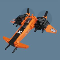 Ska Zero - Sky Fighter (Fredoichi) Tags: plane lego space military micro shooter shootemup skyfi shmup microscale dieselpunk skyfighter fredoichi