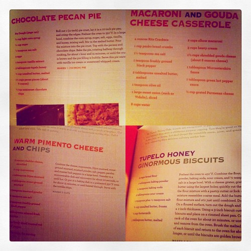 recipes from the honey tupelo cafe cookbook. courtesy of @sarahmaresa. cannot wait to try them. soon.