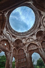 Jami Mosque, Champaner [Gujarat, India] (UrvishJ) Tags: pictures sculpture india heritage history stone ancient angle stock pillar wide culture images mosque carving symmetry unesco worldheritagesite online buy getty sell past archeology ultrawide masjid joshi champa gujarat kaman stockphoto jamamasjid jali vadodara pavagadh historicalcity stockimage panchmahal champaner muslimarchitecture jumma jalis urvish hillfortress muhammadabad indianphoto stockpicture indianpicture gettycontributor nikond7000 tokina1116mm28f begda champanerpavagadharchaeologicalpark urvishjoshi urvishjoshiphotography urvishjoshiphotography chavdadynasty mahmudbegda wwwurvishjoshicom