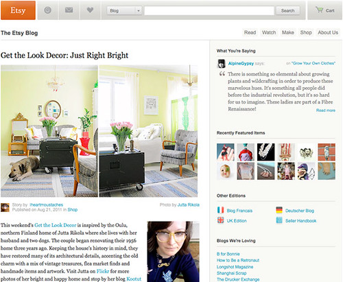 Feature on Etsy blog: Get the Look Decor