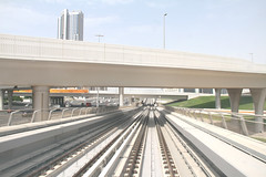 Dubai Metro (D. Bentley) Tags: city travel bridge dan architecture landscape dubai metro uae human impact bentley