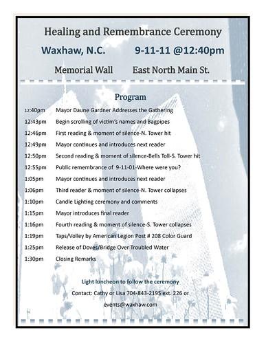 Waxhaw 9/11 Ceremony