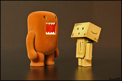 Domo Meets Danbo (Zmann42087) Tags: anime japan toy toys japanese robot model amazon comic box cartoon manga domo figure  nippon figurine domokun nhk jpn  cardboardbox kaiyodo miura  yotsuba danbo amazoncojp   revoltech hayasaka  danboard  miurahayasaka