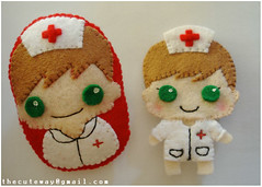 Broches infermera