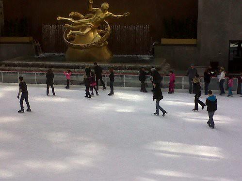 New York - Rink de patinação do Rockefeller Center