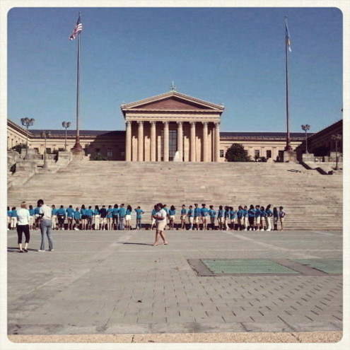 the museum of art and rocky steps