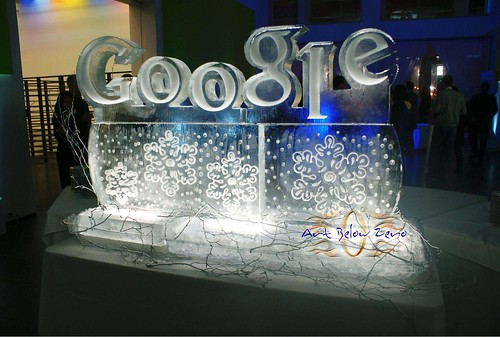 Google Display ice sculpture