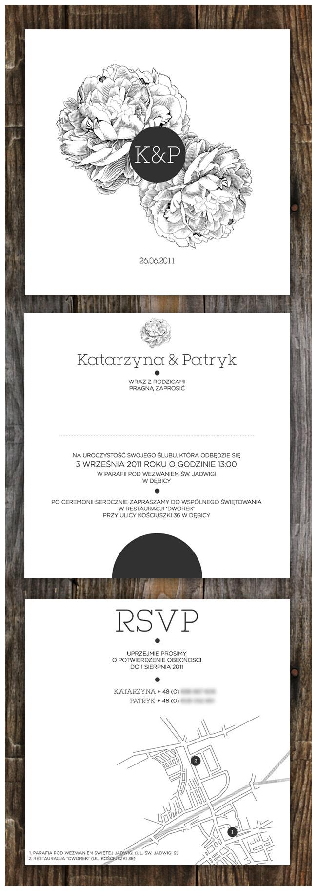 Katarzyna & Patryk – komplet poligrafii z peoniami