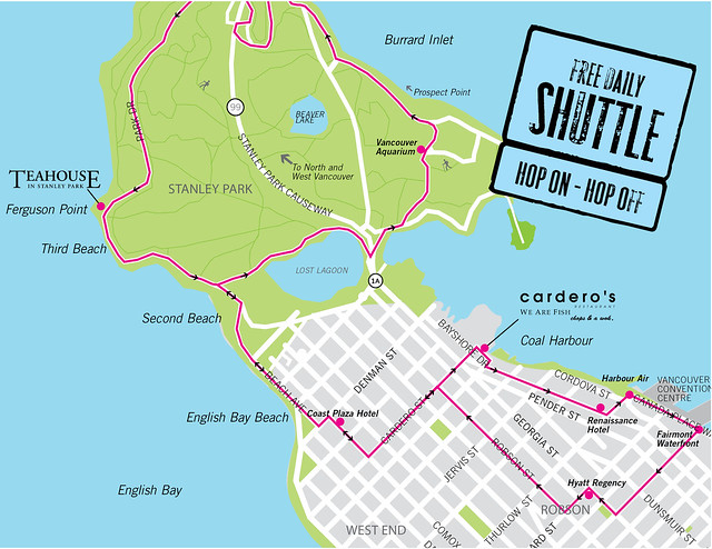 Teahouse Shuttle Map