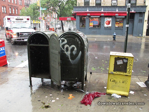 Aftermath of Hurricane Irene in NYC_St Marks Pl
