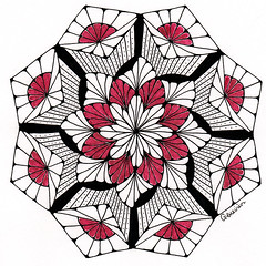 mandala015 (Amaryllis Creations) Tags: mandala penink zentangle zendala