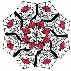 mandala015 (Amaryllis Creations) Tags: mandala penink zentangle zendala