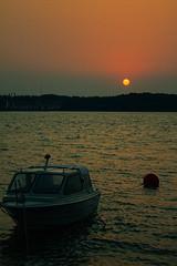Rising (Chrisseee) Tags: morning red sea sky sun sunrise canon finland boat august bonfire teersalo touraroundtheworld kristiinahillerstrm chrisseee