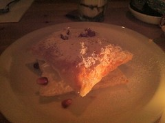 Sfogliatina, zabaglione cream and pomegranate