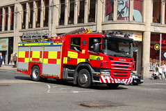 Strathclyde Fire & Rescue Scania SF60DHK - Glasgow (dwb photos) Tags: rescue fire glasgow pump strathclyde scania sf60dhk