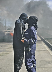 [Free Image] People, Couple, Kiss, Riot, 201109050100